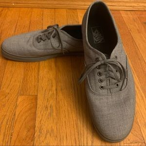 Sharp grey vans, grey shoes size 12